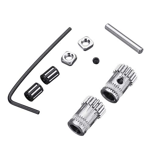 Y-longhair 3D Printer Parts DIY 1Set Prusa i3 MK2/MK3 Dual Gears Steel Pulley Kit for 3D Printer Gears Extrusion Wheel Part