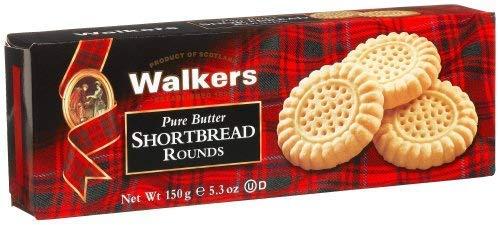 Walkers Round Scottish Shortbread Cookies mit Butter - 1 x 150 Gramm