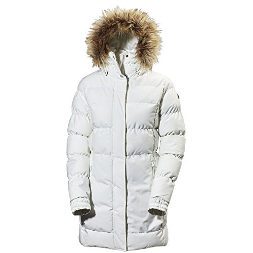 Helly Hansen Damen Blume Puffy Parka, Off White, XL