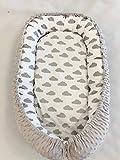 Multifunktionale Kuschelnest Babynest Kokon für Babys und Säuglinge, Nestchen, Reisebett, 100% Baumwolle, antiallergisch