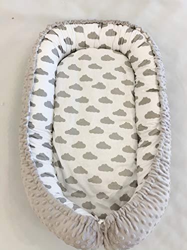 Kuschelnest Babynest Kokon für Babys und Säuglinge, Nestchen, Reisebett, 100% Baumwolle, antiallergisch