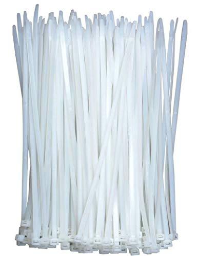 Bridas para cables de color blanco, 300 mm x 4 mm (100...