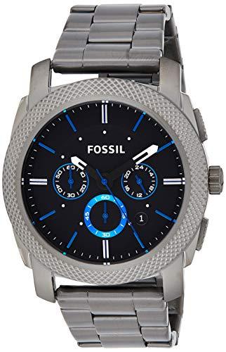 Fossil Men's Machine Quartz Stainless Steel Chronograph Watch, Color: Grey (Model: FS4931)
