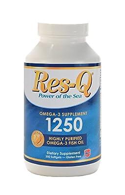 Res-Q 1250 Omega-3 Fish Oil 200 Capsules