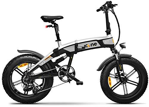 giordanoshop Icon.e Bici Elettrica Pieghevole iCross-X7 250W Deep Black