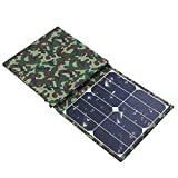 GNY Cargador Solar Juego Plegable del Cargador de batería USB 18V / 5V 100W USB Power Bank Inteligente teléfono Inteligente Recargable Recargable Camping