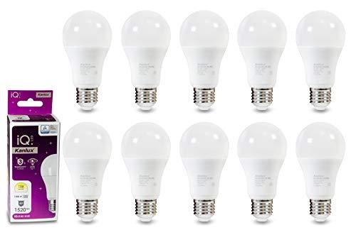 Kingled – 10 bombillas LED Pro A60 E27, 14 W, 1520 lúmenes, luz cálida, ángulo de luz de 200°