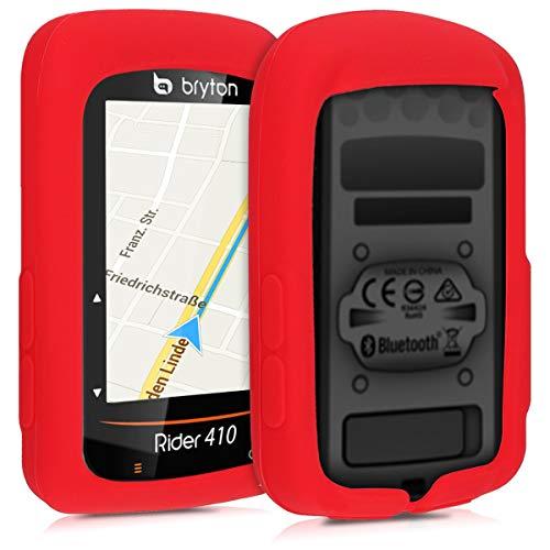 kwmobile Carcasa GPS Compatible con Bryton Rider 410/450 - Funda de Silicona para navegdor de Bici - Rojo