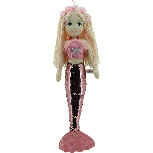 Sweety Toys all Toys 11889 Stoffpuppe Meerjungfrau Plüschtier Prinzessin 70 cm rosa