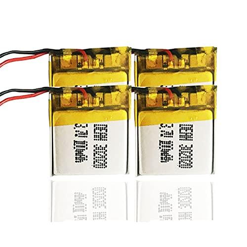 SUGGL 4pcs 3.7v 100mah 302020 PolíMero De Litio Li-Po Li Ion Batería Recargable, para Juguetes Altavoz Mp3 Mp4 Controladores Remotos Reloj Inteligente Grabadora De Voz