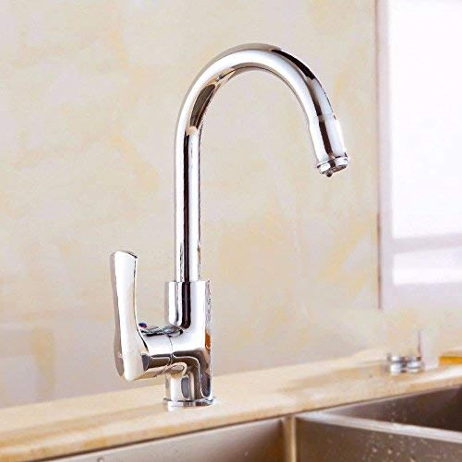 Oudan Sink Taps European style copper kitchen golden redating Hot and cold Single hole ceramics
