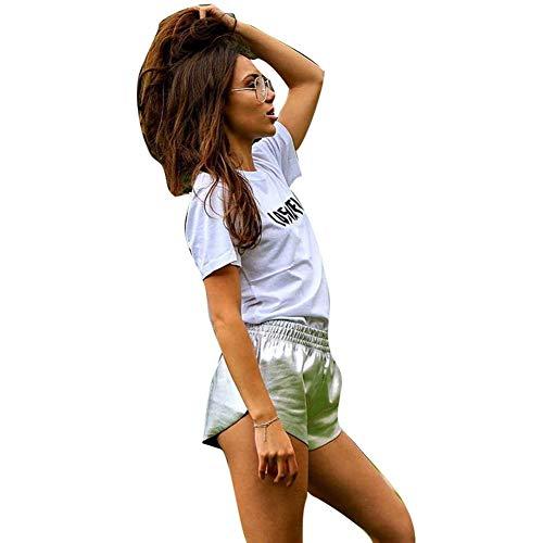 Pantalón Corto para Mujer Pantalón Corto para Verano Pantalón Mode De Marca Corto para Mujer Pantalones Cortos Bañadores Botas De Cuero De Imitación Pantalones Largos Holgados Pantalones Casuales