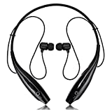 Wireless Earphones Headphones for Sony Xperia XZ1 Sports Bluetooth Wireless Earphone with Deep Bass and Neckband Hands-Free Calling inbuilt Mic Headphones with Long Battery Life and Flexible Headset (HBS,Black)