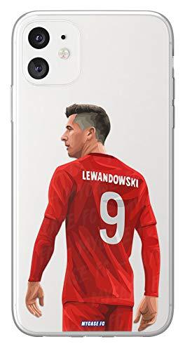 MYCASEFC - Cover di calcio personalizzabile Lewandowski Bayern Monaco per Samsung Galaxy J6 2018 in silicone
