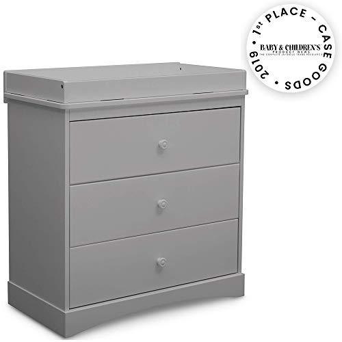 Lowest Prices! Delta Children Sutton 3 Drawer Dresser with Changing Top, Grey