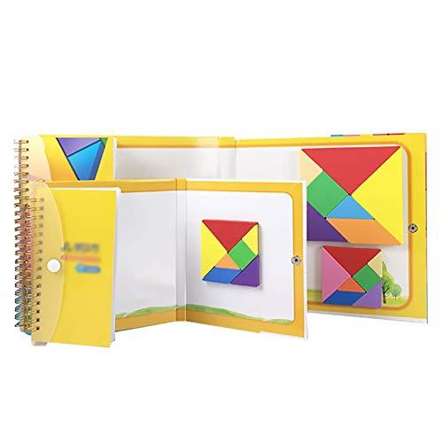 ZFF 3D-Puzzle Puzzle - Magnetic 3D Puzzle Tangram Toy Educational Gemälde Spiel Brain Training Kinder-Spielzeug-Geschenk for Kinder Pädagogisch und interessant. (Color : 1PC Small Size)