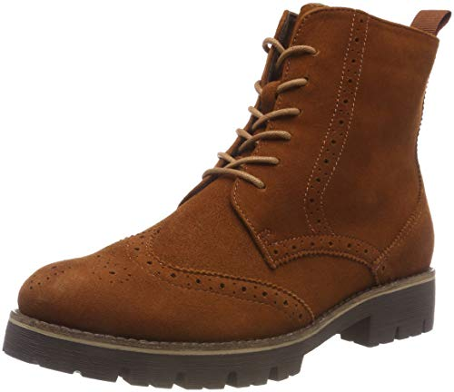 CAPRICE Damen 25209 Combat Boots, Braun (Cognac Oily Su 353), 39 EU