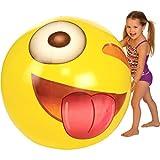 "Kangaroo Emoji Universe: Huge 56"" Emoji Wink Beach Ball; Almost 5 FEET!"