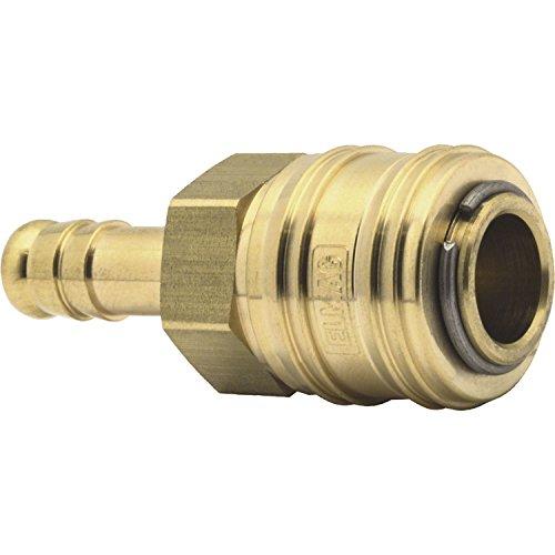 ELMAG 42318 Euro Druckluft Kupplung aus Messing mit 9 mm Schlauchtülle