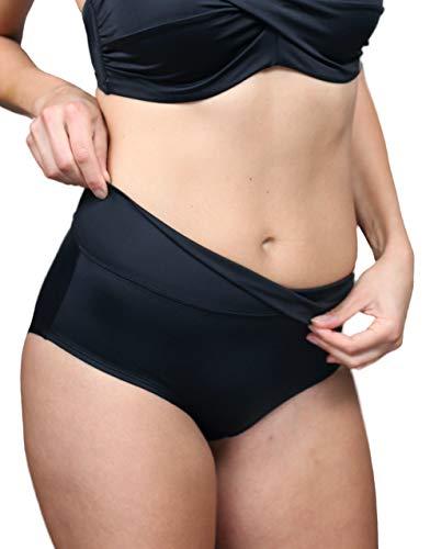 SugarShape Fold-Over Bikini-Slip Monaco Slip schwarz