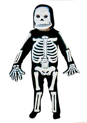 Christy's 996244 Skeleton 3D Costume - Age 9-11 Years - 1 Pc