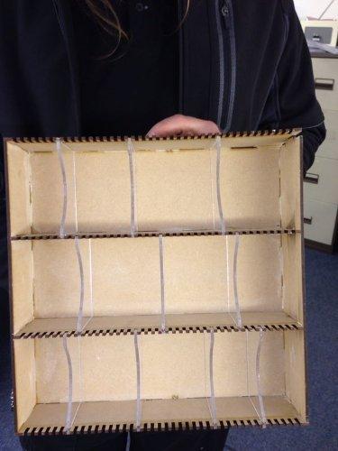 Caja de almacenaje de acrílico y tablero DM con divisores transparentes con 15 separadores, para tarjetas el Señor de los anillos YU-GI-OH POKEMON coleccionables, para juego de cartas, organizador, madera