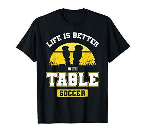 Herren Lustiges Vintage Tischfußball Tischkicker Spruch Geschenk T-Shirt