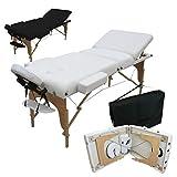 Vivezen ® Table de massage 13 cm pliante 3 zones en bois avec panneau...