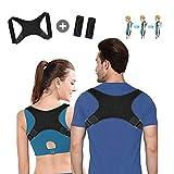 Geradehalter zur Haltungskorrektur Haltungstrainer Posture Corrector rücken korrektur rückenstütze Schultergurt Schulterschmerzen für Damen und Herren (mit 2 Schulterpolster) -