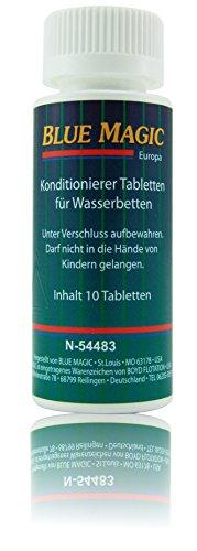 Blue Magic Conditioner Konditionierer Tabletten Tabs Wasserbett Schlauchsystem Kissen 10 Stück