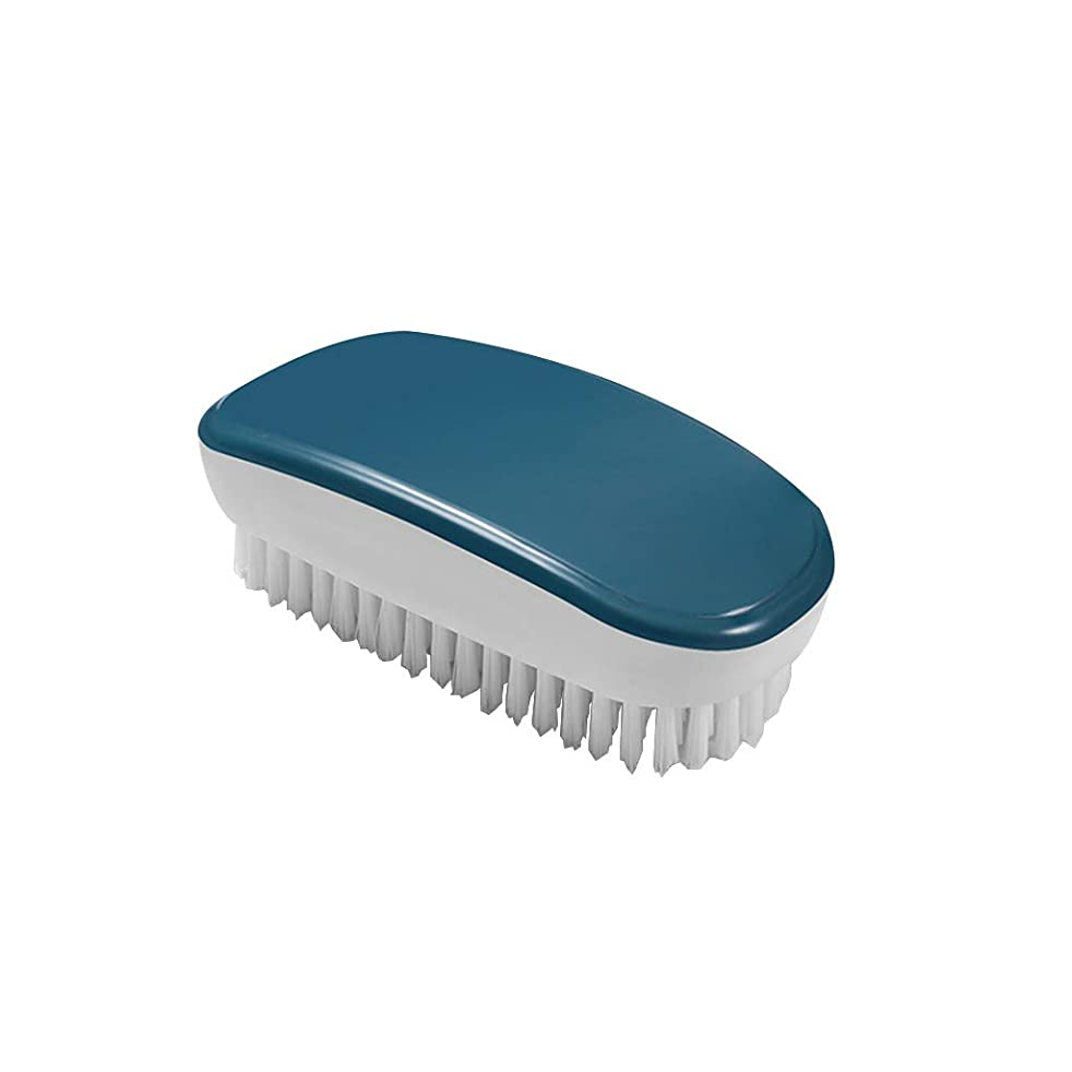 Juner Shoes Brush Laundry Scrubber Household Plastic Cleaning Brush For Bathroom Shower Sink Carpet Floor (Blue)