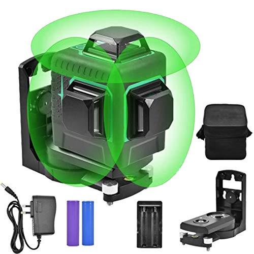 12ライングリーンレーザー墨出し器 緑色ミニ3D 自動補正高輝度...