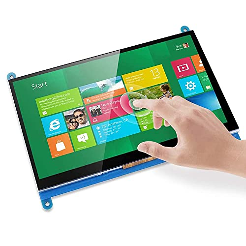 Treedix 7 inch LCD HDMI Display Capacitive Touch Screen Montior 1024x600 Compatible with Raspberry Pi 3 Banana Pi/Pro Windows 10 8 7