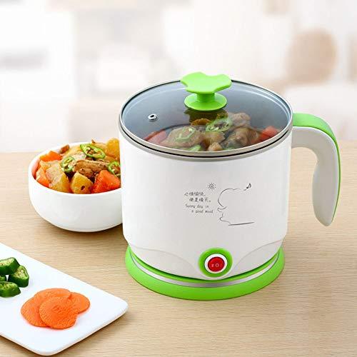 Wangyongqi Elektrische braadpan, elektrische kop, kookpan voor studentenkamer, mini-kookpan van roestvrij staal