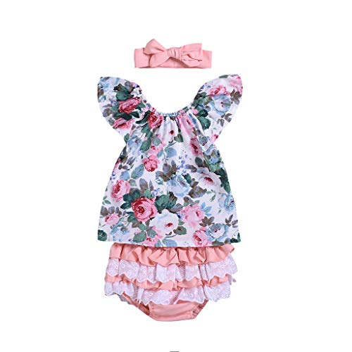Cuteelf Kinder Baby Mädchen Cartoon Kaninchen Tops Print Strampler Hosen Party Kleidung