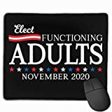 Elect Functioning Adults 2020 Alfombrilla para ratón Non-Slip Gaming Mouse Pad Mousepad for Working,Gaming and Other Entertainment
