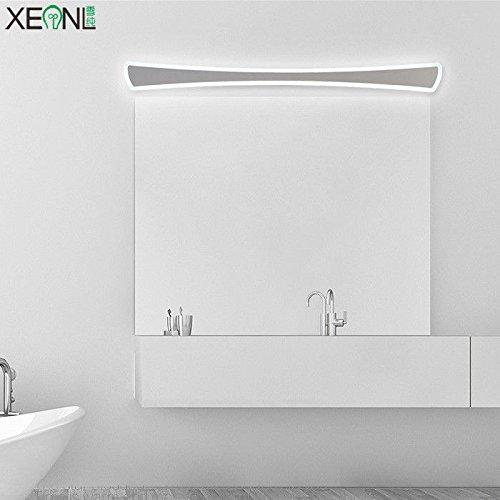 YU-K Gedecoreerd in een moderne stijl wandlamp spiegelkast LED wandlamp anti-mist badkamer wc LED een waterdichte glazen koplamp, 100 cm, 36 W, wit licht