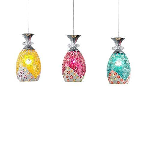 Vitrail abat-jour art lustre bar multicolore lampe suspendue éclairage méditerranéen (taille : Unique)