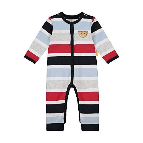 Steiff Baby-Jungen mit süßer Teddybärapplikation Strampler, Navy, 056