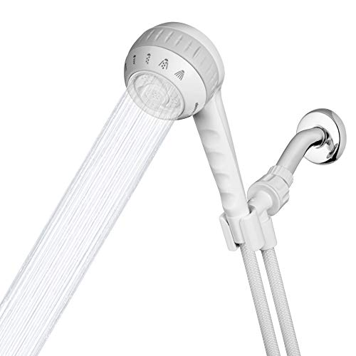 Waterpik Original Massage Shower Head Handheld Spray and PowerSpray 1.8 GPM, White, SM-651E