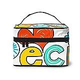 Borsa cosmetica multifunzionale, borsa cosmetica portatile, accessori da viaggio per ragazza Texttypefonttypographyiticartoon