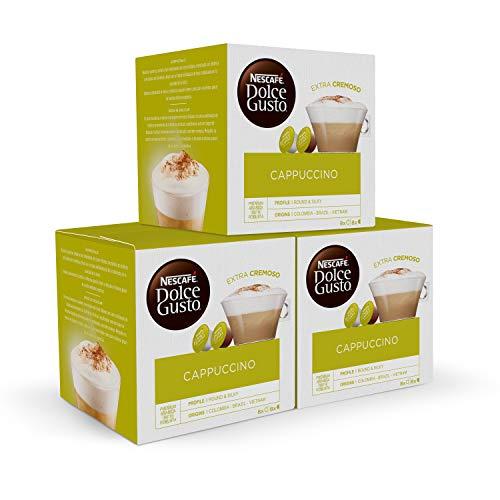 Nescafé Dolce Gusto, Cápsulas de café (Cappuccino) - 3 de 16 cápsulas (Total 48 cápsulas)
