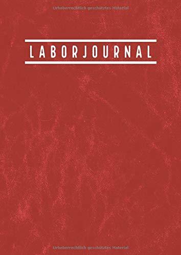Laborjournal: Laborbuch A4 Kariert  |  Labor Notizbuch mit inhaltsverzeichnis | 100 Nummerierte Seiten | Laborant Biologen Physiker Chemiker Notizbuch  | Vintage Rot