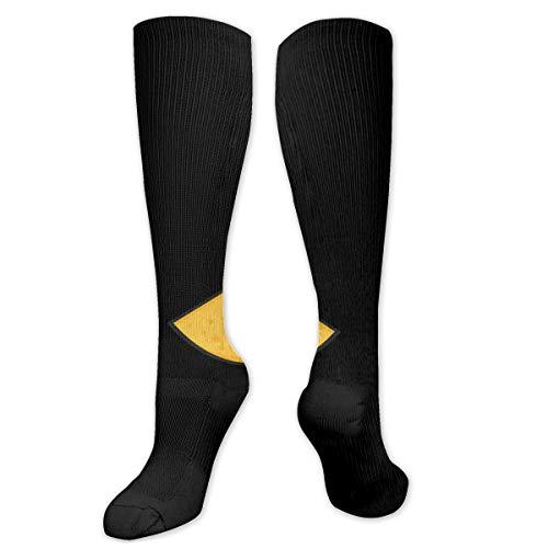 Unisex hoge elastisch comfortabele knee High length tube sokken, Wild Spooky Monster Eyes geïsoleerde compressiesokken boost stamina.size 8,5 * 50 cm
