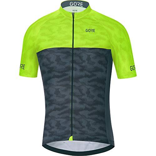 GORE WEAR C3 Herren Fahrrad-Kurzarmtrikot, Größe: S, Farbe: Schwarz/Neon-Gelb