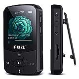 RUIZU MP3プレーヤー Bluetooth 4.0 デジタルオーディオプレーヤー 8GB内蔵 128GB 拡張可能 HiFi 高音質 ミュージックプレイヤー FMラジオ クリップ付き 軽量 X52