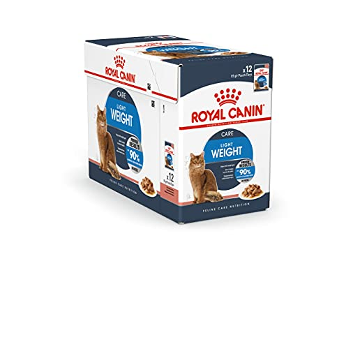 Royal Canin Comida para gatos Ultra Light, pack de 12