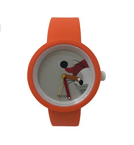 O Clock Armband Orange + Mechanismus Disney Paperoga M