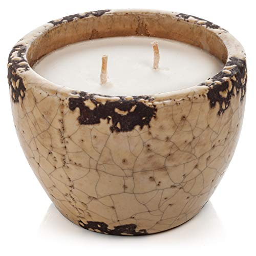 Murphy's Naturals Ivory Ceramic Mosquito Repellent Candle | DEET Free | Made with Plant Based Essential Oils and a Soy/Beeswax Blend | 30 Hour Burn Time Per Candle | 13.5oz