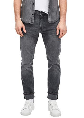 s.Oliver Herren Slim Fit: Slim leg-Denim mit Wascheffekt grey stretched den 33.34